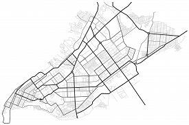 Samara City Map - Town Streets On The Plan. Map Of The  Scheme Of Road. Urban Environment, Architect