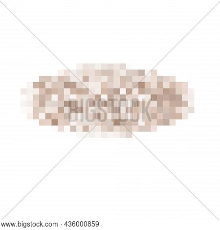 Censored Pixel Oval Bar. Nudity Skin Or Sensitive Text Adult Content Cover. Censored Picture Vector
