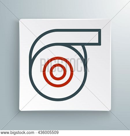 Line Scotch Tape Icon Isolated On White Background. Roll Adhesive Tape. Insulating Tape. Colorful Ou