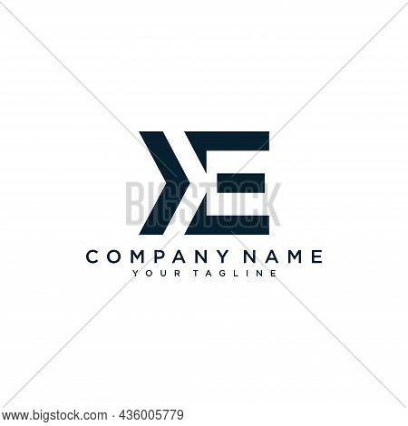 Alphabet Letters Initials Monogram Logo Ke Or Ek, K And E.illustration Vector