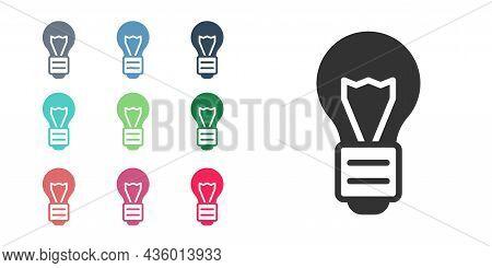 Black Creative Lamp Light Idea Icon Isolated On White Background. Concept Ideas Inspiration, Inventi