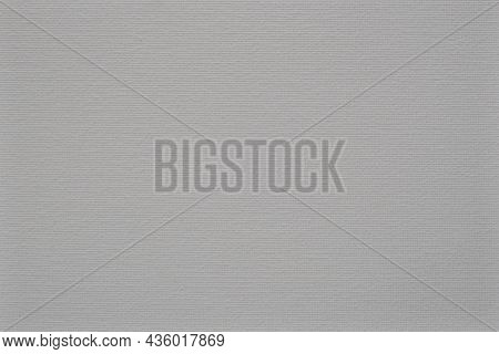 Painting Canvas. A Uniform White And Gray Background With A Pronounced Texture, The Basis For The De