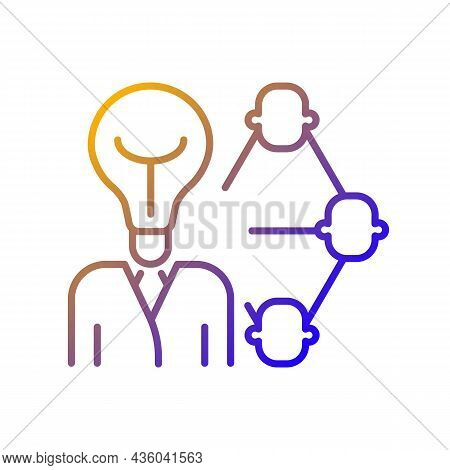Influencing And Leadership Gradient Linear Vector Icon. Inspire And Impact People. Persuade And Mana