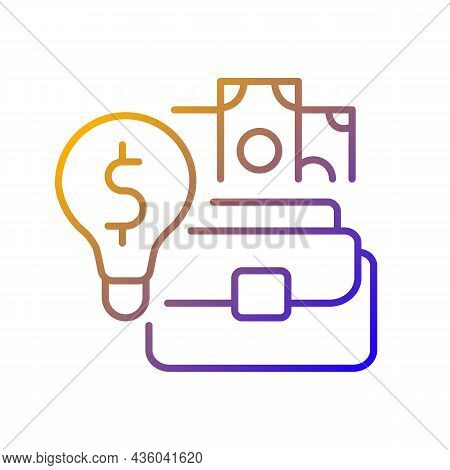 Talent For Entrepreneurship Gradient Linear Vector Icon. Gifted Entrepreneur. Successful Businessmen