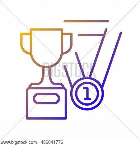Sports Talent Gradient Linear Vector Icon. Athletic Aptitude. Talented Sportsman. Physical Activity.