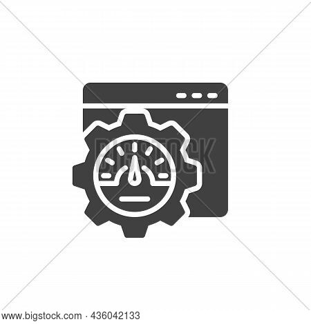 Website Optimization Vector Icon. Filled Flat Sign For Mobile Concept And Web Design. Webpage Speed