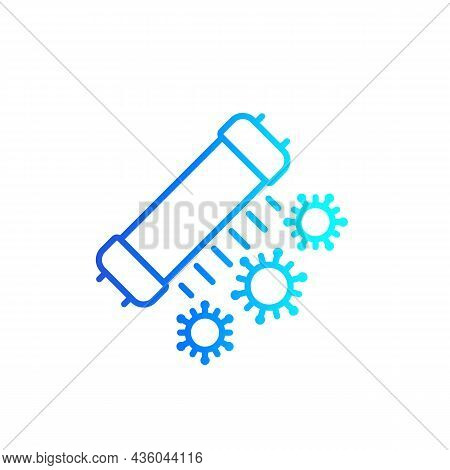 Uv-c Lamp For Disinfection Line Icon, Vector