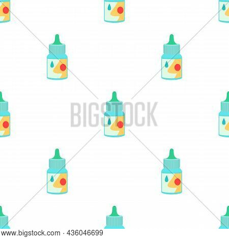 Bottle Of Nasal Drops Pattern Seamless Background Texture Repeat Wallpaper Geometric Vector