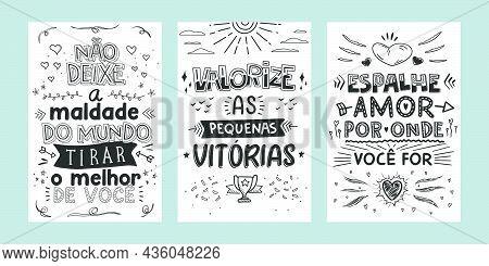 Three Inspirational Lettering Phrases In Brazilian Portuguese