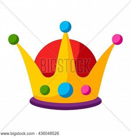 Mardi Gras Carnival Crown. Illustration For Traditional Festival.