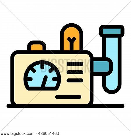 Chemical Device Icon. Outline Chemical Device Vector Icon Color Flat Isolated