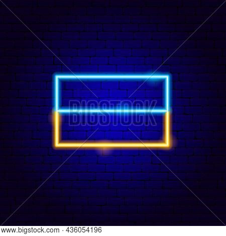 Ukrainian Flag Neon Sign. Vector Illustration Of Ukraine Promotion.