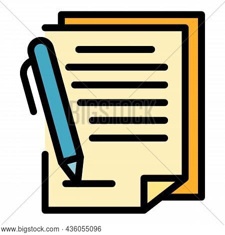 Issuing An Order Icon. Outline Issuing An Order Vector Icon Color Flat Isolated