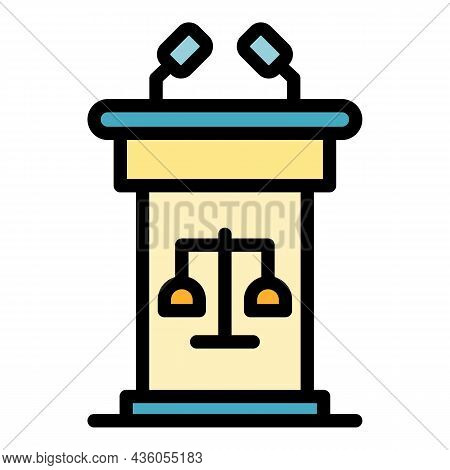 Trial Stand Icon. Outline Trial Stand Vector Icon Color Flat Isolated