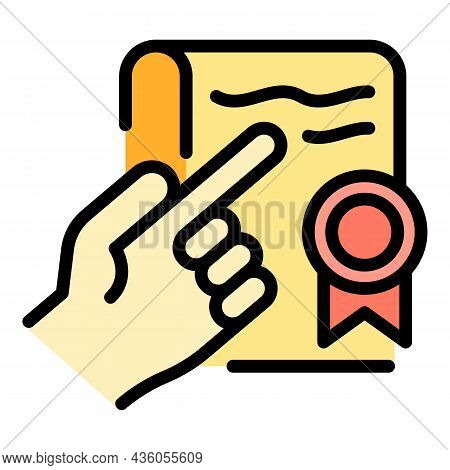 Court Statement Icon. Outline Court Statement Vector Icon Color Flat Isolated