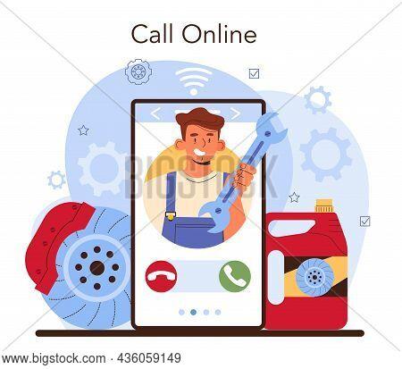 Car Repair Service Online Service Or Platform. Automobiles Brake