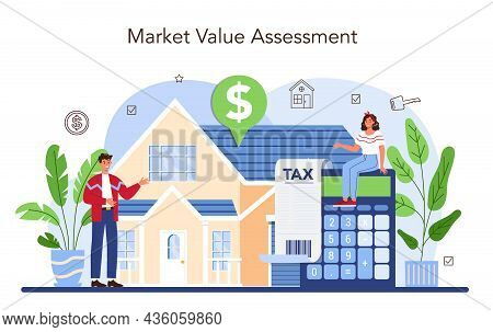 Real Estate Industry. Realtor Assistance And Help In Property