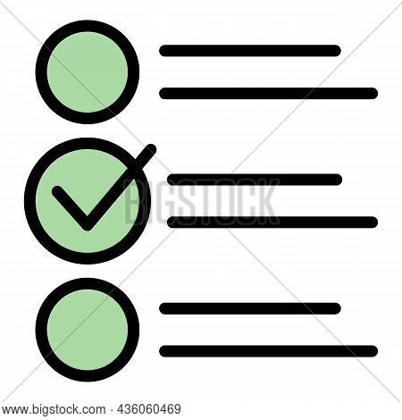 Passenger Checklist Icon. Outline Passenger Checklist Vector Icon Color Flat Isolated