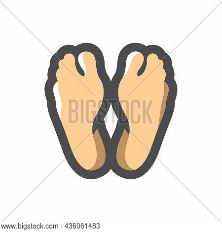 Dead Man Feet Vector Icon Cartoon Illustration