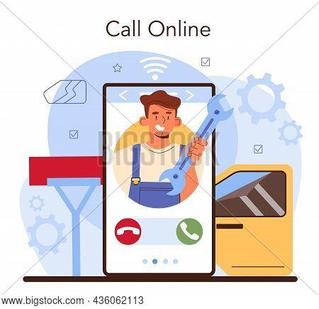 Car Repair Service Online Service Or Platform. Automobile Sound