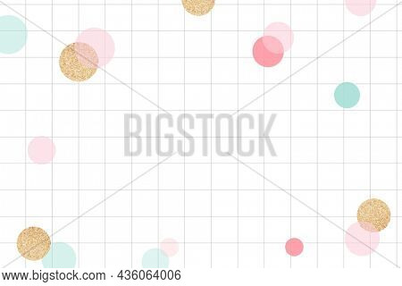 Cute celebration background, cute grid pattern with colorful bokeh