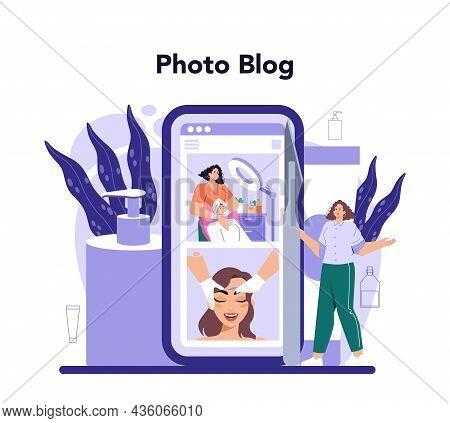 Salon Dermaplaning Procedure Online Service Or Platform. Cosmetology Face