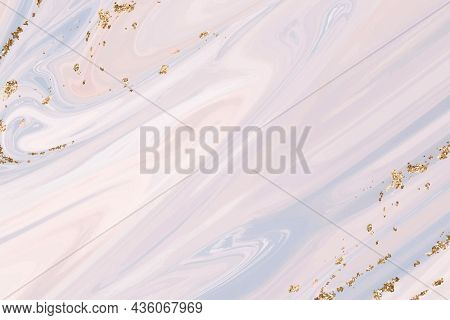 Pastel purple marble background with gold lining