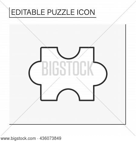Logic Line Icon. Intellectual Game. Game Element. Puzzle Concept. Isolated Vector Illustration. Edit