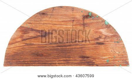 Wooden semicircle