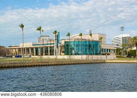 St. Petersburg, Fl, Usa - Jan. 26, 2019: Duke Energy Center For The Performing Arts And Mahaffey The