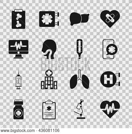 Set Heart Rate, Hospital Signboard, Emergency Phone Call, Human Organ Liver, Sore Throat, Monitor Wi