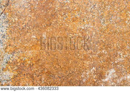 Raw Rough Yellow Golden Brown Granite Texture Background. Natural Rock Stone Texture Background. Gra