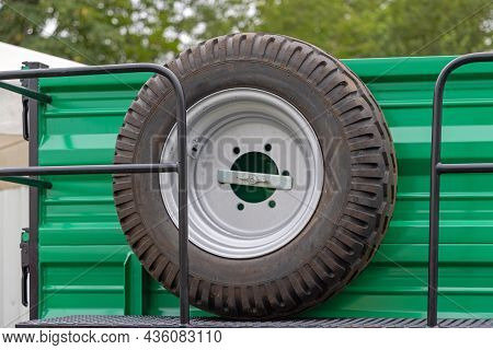 New Spare Tyre At Big Agriculture Trailer