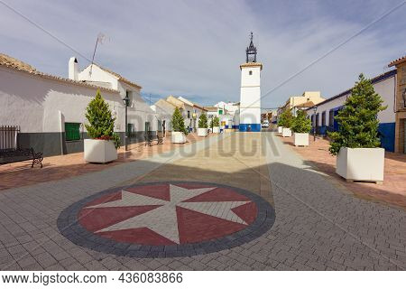 Town Of Camuñas In Toledo In Spain