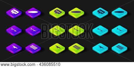 Set Skateboard Wheel, Longboard Or Skateboard And Icon. Vector