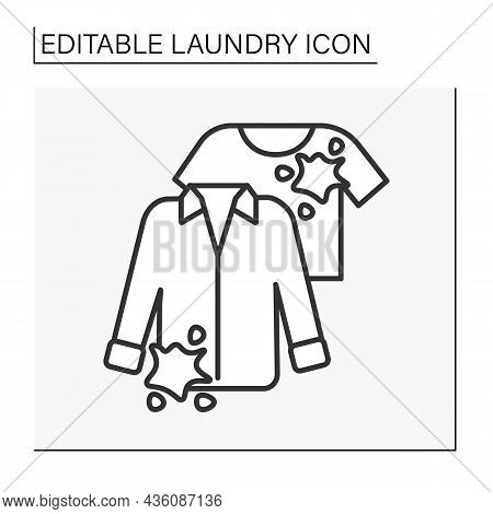 Dirty Clothing Line Icon. Cleaning Service.laundry Service Concept. Isolated Vector Illustration.edi