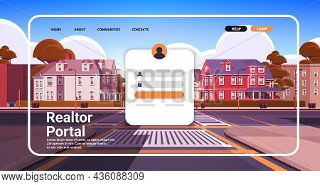 Realtor Portal Website Landing Page Template Home Agent Rent Of House Property For Sale