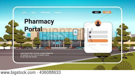 Pharmacy Portal Website Landing Page Template Buy Medicaments And Drugs Online E-commerce Site Conce