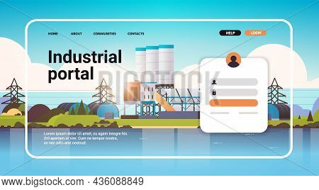 Industrial Portal Website Landing Page Template Factories Zone Manufacturing Plants Power Stations
