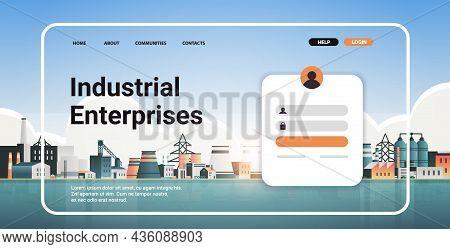 Industrial Enterprises Portal Website Landing Page Template Factories Zone Manufacturing Plants Powe