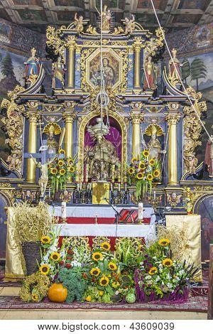 Altar In St John The Baptist Church - Orawka, Poland.