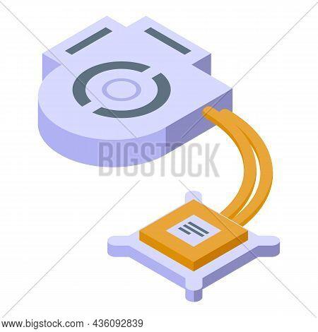 Laptop Repair Processor Icon Isometric Vector. Mobile Service. Fix Device