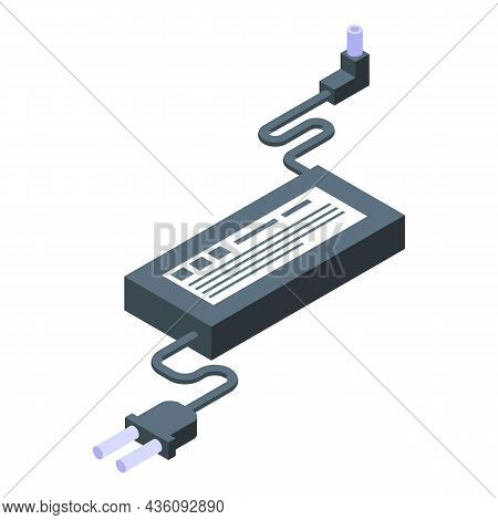 Repair Laptop Ac Adapter Icon Isometric Vector. Fix Device. Mobile Technician