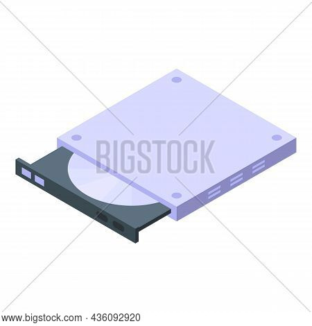Fix Laptop Dvd Drive Icon Isometric Vector. Repair Computer. Mobile Service