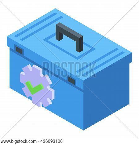 Repair Tool Box Icon Isometric Vector. Toolbox Kit. Repair Toolkit