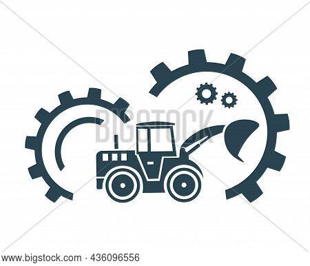 Vector Illustration, Logo, Loader Icon. Industry, Construction And Transport.