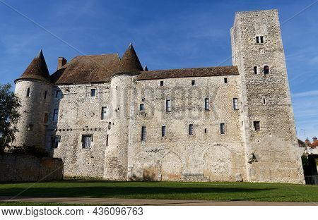 View Of The Nemours Medieval Castle In France .the Castle Was Built Circa 1060 By William The Conque