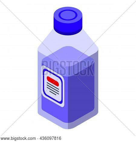 Wash Machine Cleaner Icon Isometric Vector. Washing Laundry. Clean Detergent