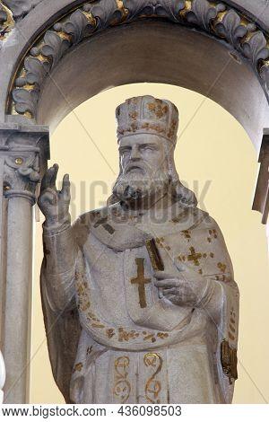 BOSILJEVO, CROATIA - JULY 15, 2012: Saint Cyril, main altar in the Church of St. Maurus the Abbot in Bosiljevo, Croatia
