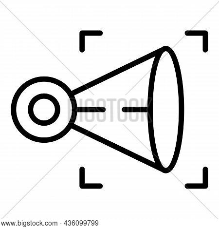 Visual Health Icon Outline Vector. Sensory Perception. Cognitive Process